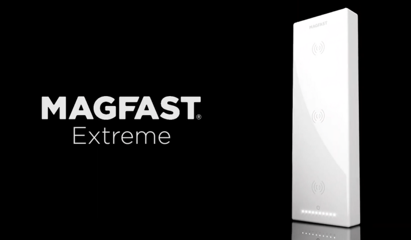 MAGFAST Extreme - World's First Power Bank with Three Qi Wireless Charging Coils